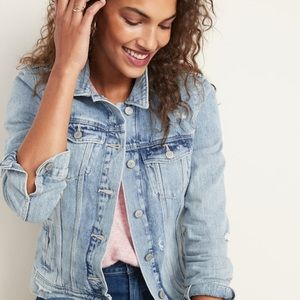 Distressed Denim Jacket - Never worn!